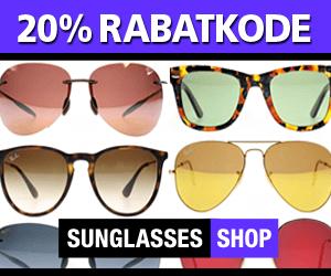 Sunglasses rabatkode SOLBRILLER
