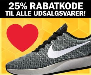 50% + Nike 25% rabatkode