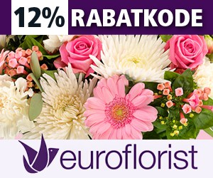 12% Euroflorist rabatkode Valentin