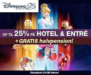 Disneyland 25% rabat