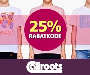 Caliroots 25% rabatkode