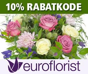 10% Euroflorist rabatkode Valentin