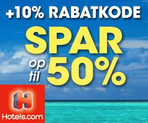 10% Hotels rabatkode
