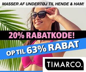Timarco 20% kampagnkode