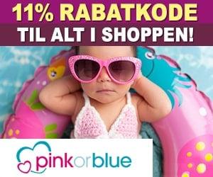 Pinkorblue 11% rabatkode