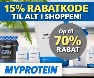 70% MyProtein + 15% rabatkode
