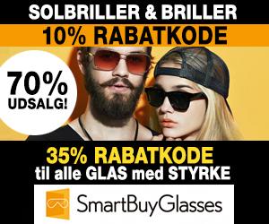 Smartbuyglasses 10% rabatkode