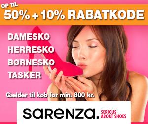 Sarenza 10% ekstra rabatkode