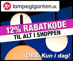 Lampegiganten 12%  rabatkode