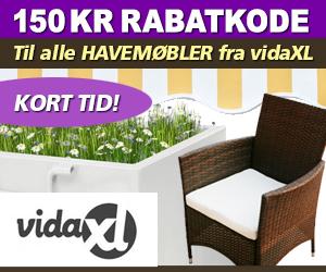vidaxl rabatkode 150 kr
