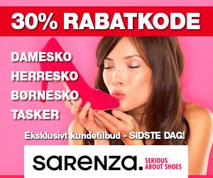 Sarenza 30% rabatkode