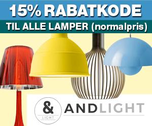 Andlight 15% rabatkode