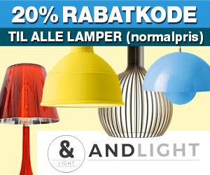 Andlight 20% rabatkode