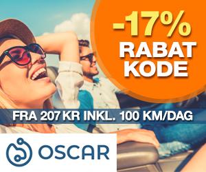 Oscar 17% rabatkode
