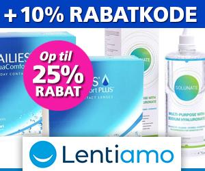 25% rabat + 10% rabatkode til Lentiamo