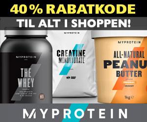 MyProtein 40% rabatkode