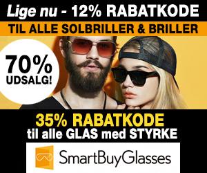Smartbuyglasses 40% rabatkode