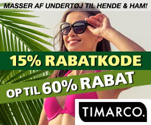 Timarco 15% kampagnekode