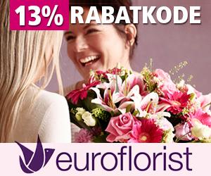 Euroflorist 13% rabatkode